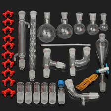 <b>29pcs</b>/<b>set</b> 24/29 laboratory glassware kit 25/50/100/250/500ml flask ...