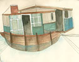 home vintage plates houseboats decor