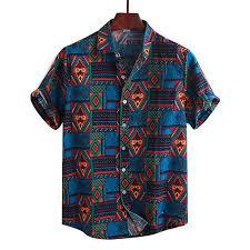 Yualice Hawaiian Beach Shirts for Men Vintage Ethnic ... - Amazon.com