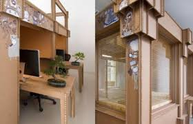 the office was made without glue or nails cheap office design