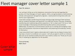 Fleet manager cover letter SlideShare Fleet