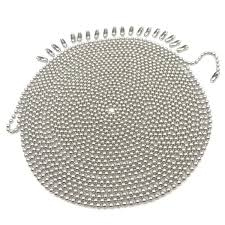 Metal Pull Chain, 3.2 mm Diameter Beaded Fan Extension Chain ...