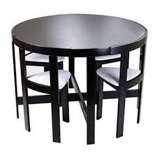 black kitchen dining sets: dinette set dining table modern round kitchen small apartment size compact black home sweet home pinterest dinette sets compact and kitchen small