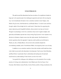 how to write the acknowledgements for dissertation mgorka lbartman com