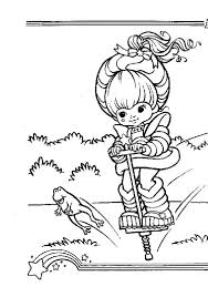 Small Picture Rainbow Brite Jumping with Frog Coloring Page Color Luna