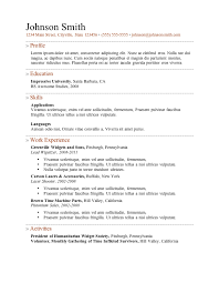 resume template a resume format