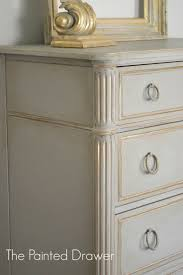chalk painted drawer chest chalk paint painted furniture painted with ascp french linen and highlighted the details with martha stewarts vintage gold chalk paint colors furniture ideas