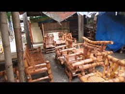 philippine handmade bamboo and mahogany furniture here youtube building bamboo furniture