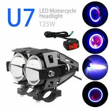 <b>1Pair 125W</b> 3000LM U7 <b>Motorcycle Motorbike</b> LED Fog Headlight ...