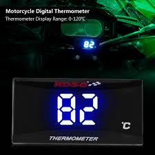 *   henlai * <b>Motorcycle Digital Thermometer Instrument</b> Water ...