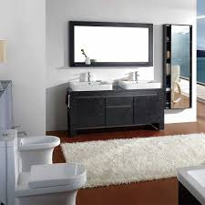 built bathroom vanity design ideas: doube side white sink built in vanity bathroom full size
