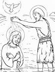 Раскраска крещение господне для детей