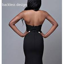 Sexy Black Halter Mermaid Prom Dress 2019 Backless Long ...