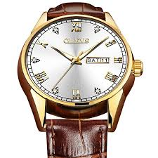Leather Watches with Date and Day for Men,Classic ... - Amazon.com