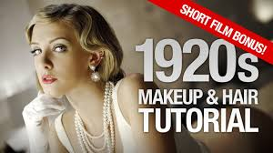 1920s makeup hair tutorial