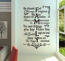 wall decal family art bedroom decor removable vinyl decal art mural family home living room decor quote wall sticker