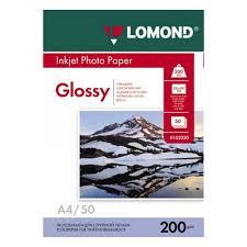 <b>Фотобумага LOMOND</b> Односторонняя Глянцевая, <b>200г</b>/<b>м2</b>, A4 ...