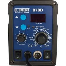 <b>Паяльная станция ELEMENT 878D</b>, вентиляторная, цифровая ...