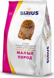 <b>Сухой корм</b> для собак <b>Sirius</b>, мелких пород, 10 кг — купить в ...