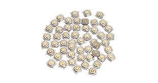 Efsiad <b>150Pcs DC12V 4 Pins</b> Tact Tactile Push Button Switch ...