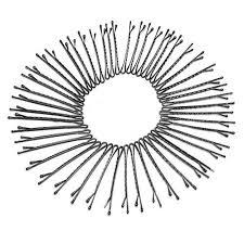 50 Pcs Metal Waved Hair Clips Bobby Salon Pins Grips <b>Hairpins</b> ...