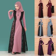 2019 <b>Plus Size 5XL Women</b> Islamic Muslim Dress Vintage Long ...