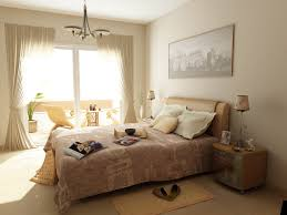 wonderful beige and white pastel bedroom design with classic style chandelier furniture lighting that have brown fabric lighting