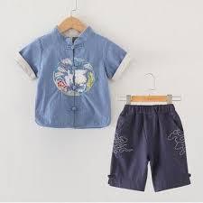<b>Short Sleeved Retro</b> Cotton Hemp And Hanfu <b>Summer Children'S</b>
