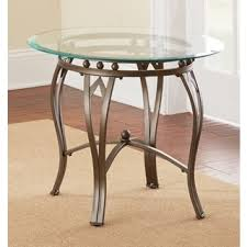 marble dining table adecc: greyson living maison glass top round end table