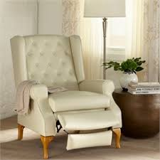 wingback recliners chairs living room furniture queen anne style tufted wingback recliner