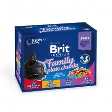 Брит <b>премиум</b> Набор <b>паучей</b> д/кошек <b>Family</b> Plate Семейная ...