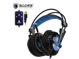 <b>SADES</b> Locust Plus Gaming Headset <b>Virtual</b> 7.1 Surround Sound ...