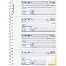 adams sc adams wire bound money rent receipt books abfsc adams wire bound money rent receipt books 200 sheet s spiral bound 2 part 2 75 x 7 62 form size assorted sheet s 1 each