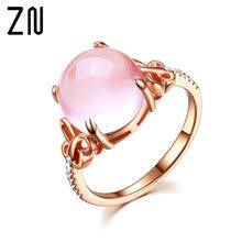 Женское <b>Ювелирное</b> кольцо ZN, розовое <b>Золотое кольцо</b> с ...
