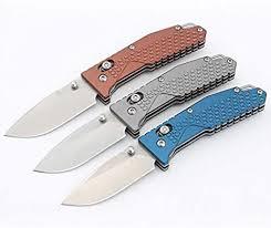 <b>Sanrenmu 7063AUC</b> 8Cr13MoV Blade Bronze Aluminum ...