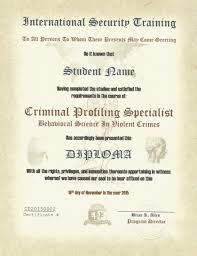 professional security training criminal profiling