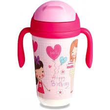 <b>Поильник Eco-baby бамбуковый</b> с соломинкой Happy Byrthday ...