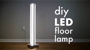 How To Make A DIY Smart <b>LED Floor Lamp</b> // Limited Tools Build ...