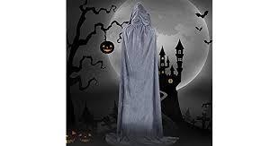 KKmoon Halloween Hooded Cloak Velvet Witches Princess Death ...