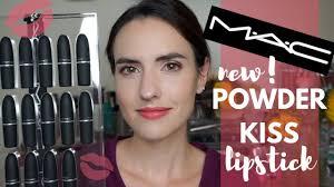 NEW <b>MAC</b> Powder Kiss Lipsticks | Lip Swatches of ALL 16 Shades ...