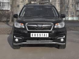<b>Передняя защита</b> 63/<b>42мм</b> Russtal для Subaru Forester (2016-2018)