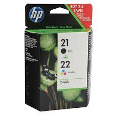<b>HP 21</b>/<b>22</b> Black/Cyan/Magenta/Yellow Ink Cartridges (2 Pack ...