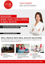 become a real estate agent at ega homes if you are interested in starting or expanding your real estate career ega homes provides you everything you need to be successful