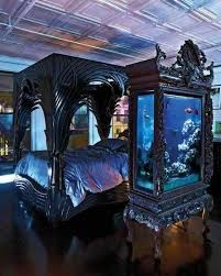 crazy awesome black gothic furniture just think water is 7 lbs a gallon and there is probably 50 gallons in this tank of water awesome medieval bedroom furniture 50