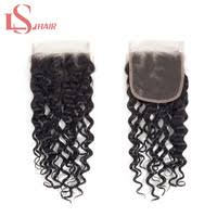 <b>LS Hair Brazilian Water</b> Wave Closure Middle Part With Baby Hair 4 ...