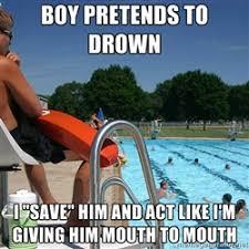 pool lifeguard | Meme Generator via Relatably.com