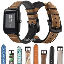 <b>Genuine Leather Silicone</b> Watch Band Strap for Xiaomi Huami ...