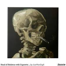 Details about Skeleton with Cigarette - <b>Van Gogh Large</b> A2 <b>size</b> ...