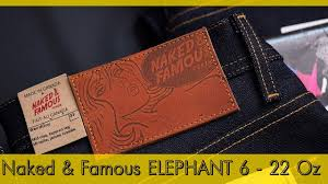 22 унции - NAKED AND <b>FAMOUS</b> Elephant 6 Broken Twill Selvedge