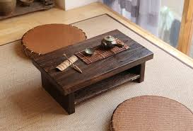 oriental antique furniture design japanese floor tea table small size 6035cm living room wooden asian style furniture korean antique style 49